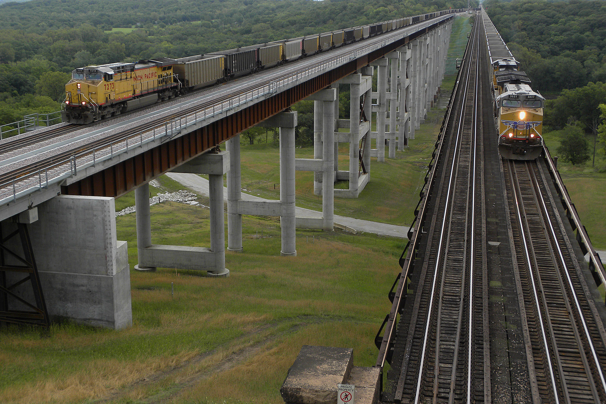 Union Pacific Railroad bridge. LP Photo Video. Omaha Photography.