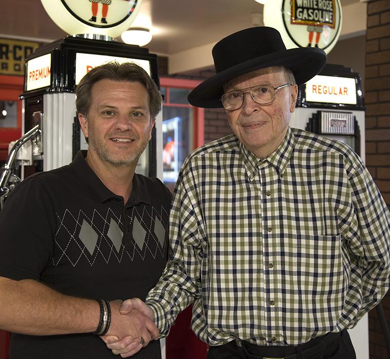 Brad Fanshaw and Speedy Bill Smith. LP Photo Video. Omaha Photography.